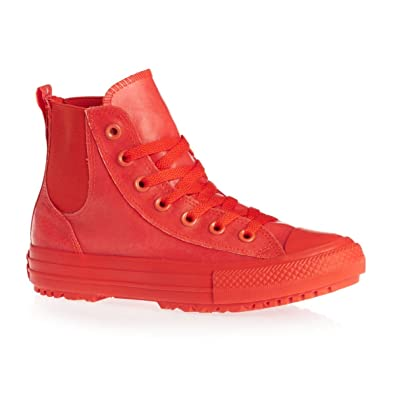 Converse Chuck Taylor All Star Chelsea Boot Rubber Hi Signal Red Signal Red  (Womens 21395711c