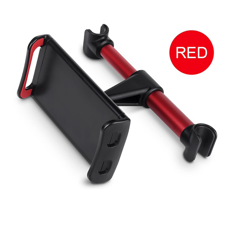 niceEshop(TM) Support Tablette pour Voiture, Porte Tablette/Téléphone pour Appui-tête Universel Auto, Rotation 360°, Taille Réglable 4~11 Pouces pour IPad, Tablettes et Smartphone (Noir et Rouge
