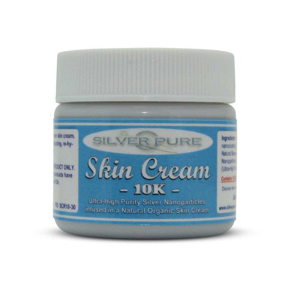 Nano Silver Skin Cream 10,000 ppm - 1 Ounce Jar