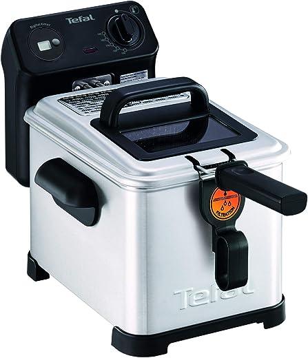Tefal FR516070 Pro Premium Eco Digitale friteuse, filtersysteem, filterrooster, kijkvenster voor koken, eenvoudig te bedienen en te reinigen, 2400 W, 4 liter, zwart, roestvrij staal