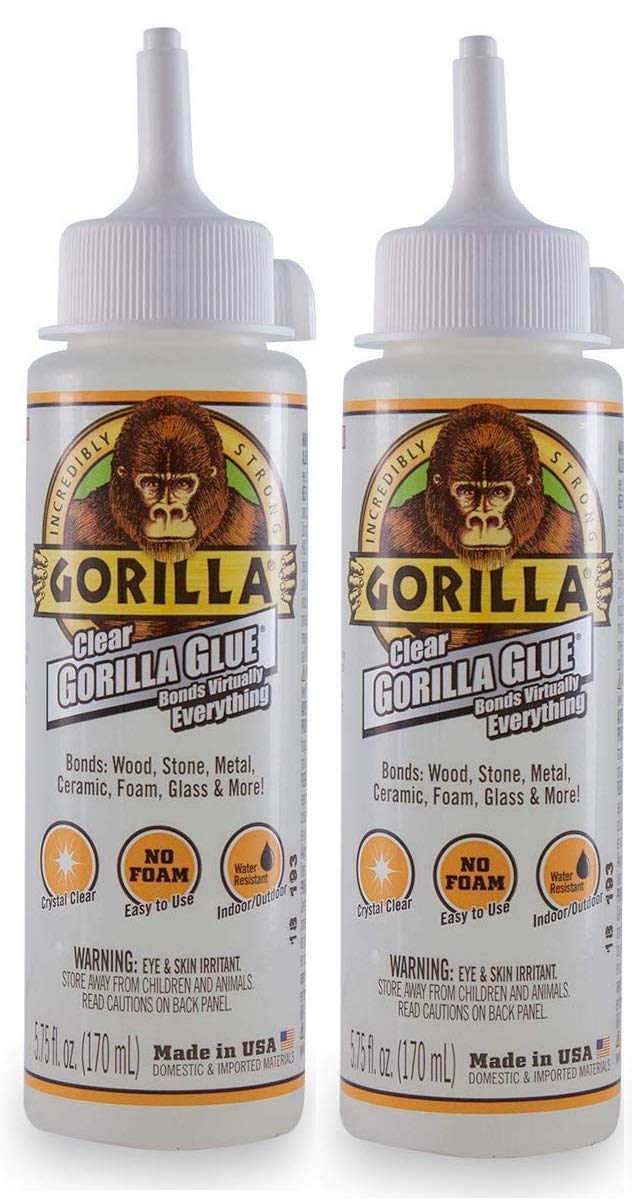 Gorilla Clear Glue, 5.75 ounce Bottle, Clear (Pack of 1) (2-(Pack)) by Gorilla (Image #1)