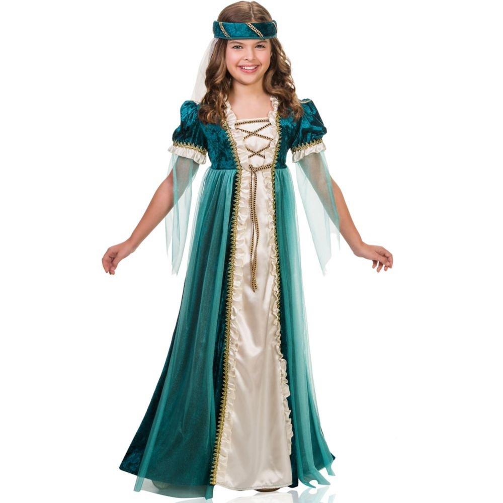 Goddessey Smaragd-Kostüm für Kinder Siehe Abbildung Large