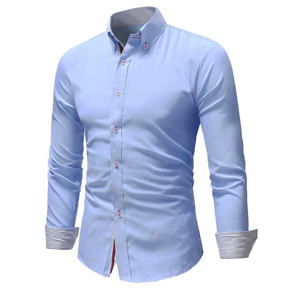 Polo, Camisetas, Blusa, BaZhaHei, Camisa de Hombre cómodo y Transpirable Camisetas de Manga Larga Casual Masculina de Color sólido de Moda Tops de Manga ...