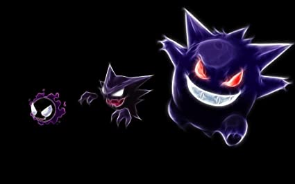 720a49ab Athah Designs Anime Pokémon Gastly Haunter Gengar 13*19 inches Wall ...