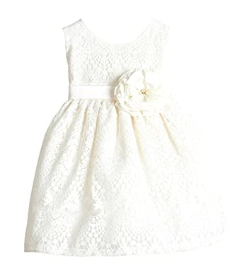 877fe335e Sweet Kids Baby Girls' Sweet Vintage Lace Dress 6M Sm Off White (SK B437