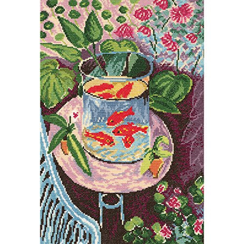 Red Fish Counted Cross Stitch Kit-9.75x14.5 14 Count