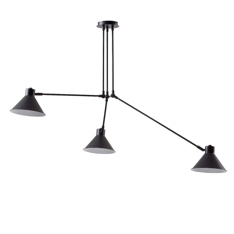 Kave Home - Lámpara de techo Dione de acero color negro ...