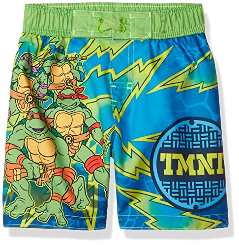 Nickelodeon Toddler Boys' TMNT Swim Trunk, Seafoam Green, 2T