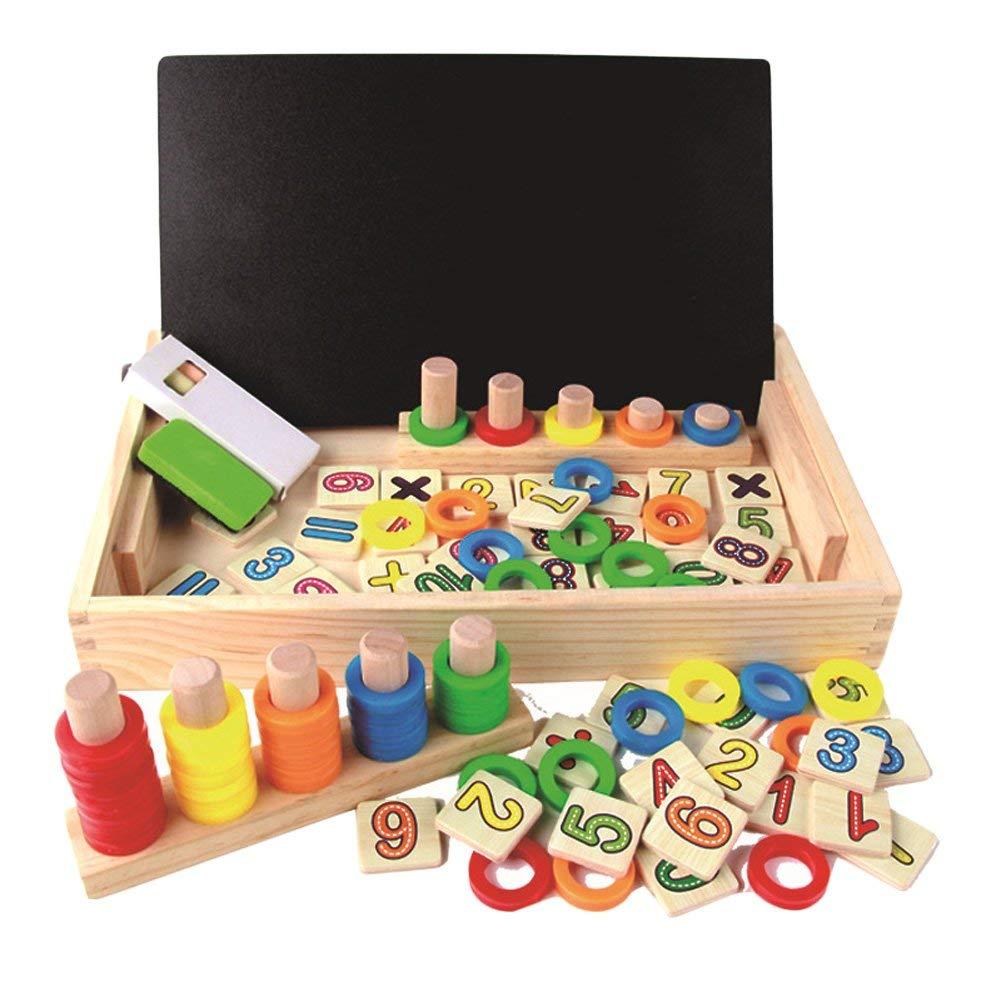 Spielzeug Doodle aus Holz Zeichnung,Zeichnung Holzbrett Spielzeug Lernspielzeug f/¨/¹r Kinder 3 4 5 Jahre Alt BBLIKE Montessori Mathe Spielzeug