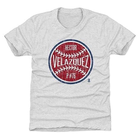b2c38bed19c0 Amazon.com   500 LEVEL Hector Velazquez Boston Baseball Kids Shirt ...