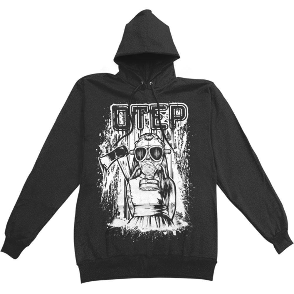 Otep mens little girl gas mask hooded sweatshirt black
