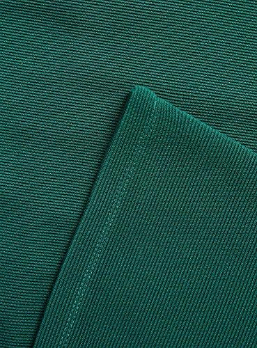 oodji Ultra Mujer Vestido de Silueta en A Texturizado Verde (6E00N)