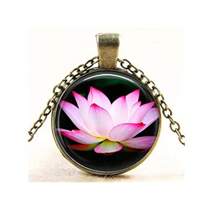 Amazon Pink Lotus Flower Pendant Spiritual Flower Peace