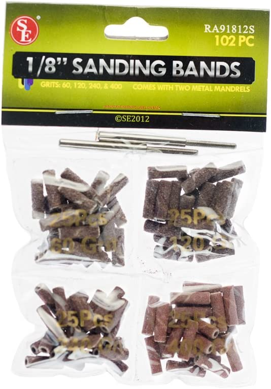 """240 102pc 1//2/"""" Sanding Bands Drums Sleeves Set 60 400 Grit Rotary Tool 120"""