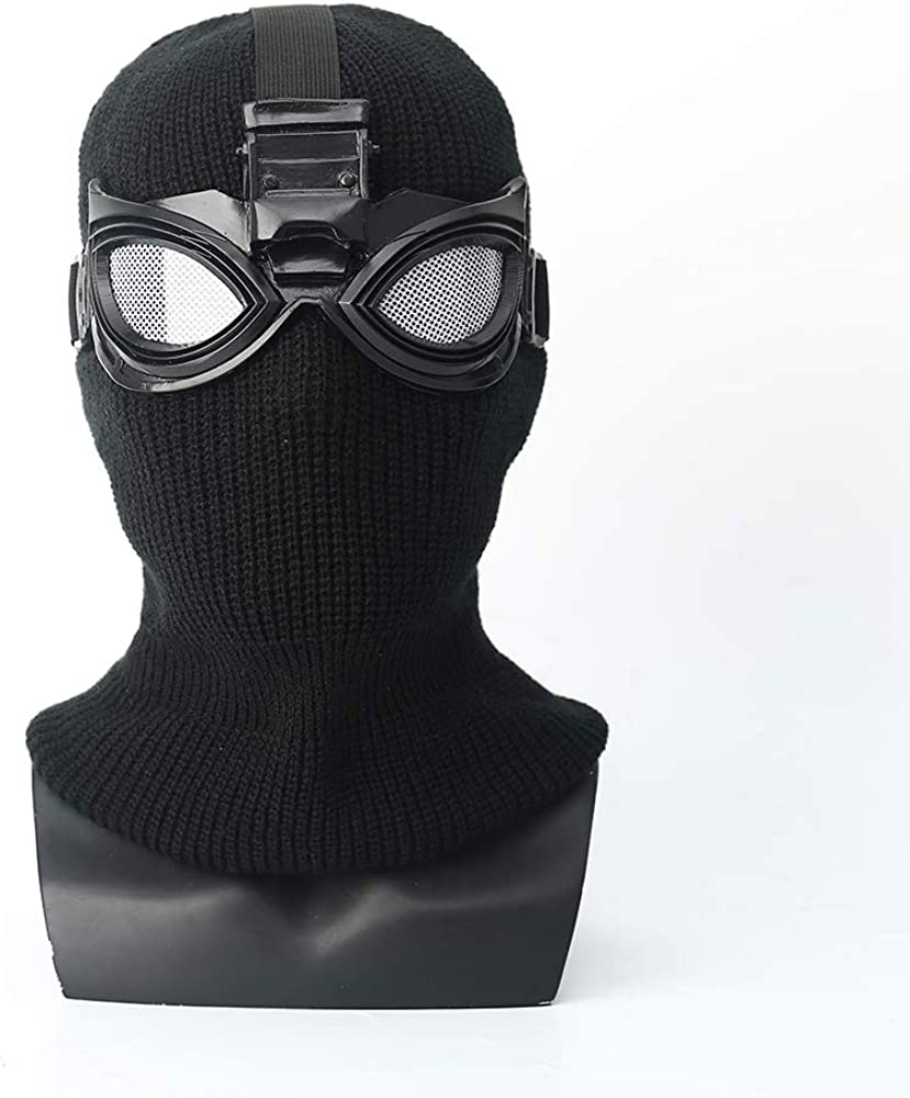 ke Spider-Man: Far from Home Mask Head Cover Black Mask Shadow Sneak Battle Suit Cosplay Spider-Man