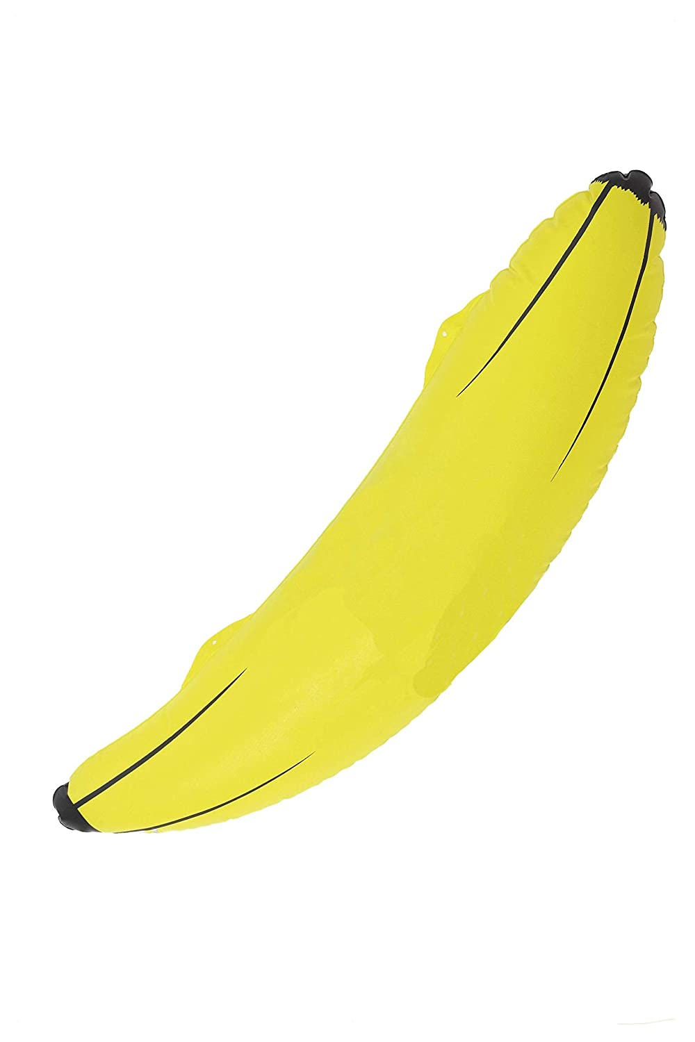 Smiffys-26742 Inflable Banana, Hinchable, 73cm/28 Pulgadas, Color Amarillo, No es Applicable (26742)