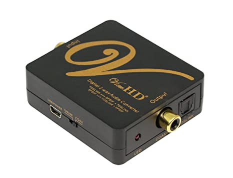 ViewHD SPDIF Audio Optical TOSLINK to Coaxial Bi-directional Converter Splitter | VHD-2WDA