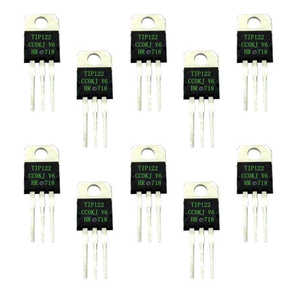 Magideal 10pcs Tip122 Darlington Transistor Semiconductor Device 5a The Npn Can Be Just About Any General Purpose 2n2222 Bc337 Etc 100v Industrial Scientific