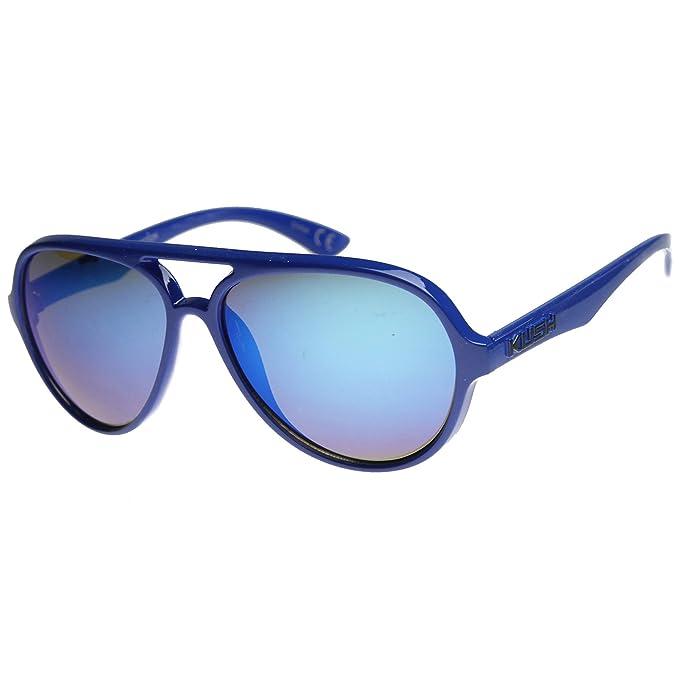Amazon.com: Kush – Kush Mens Aviator anteojos de sol con ...