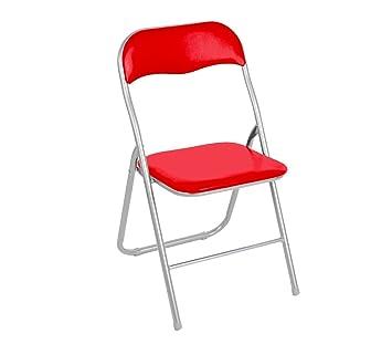 2008AN0816 Set de 6 sillas plegables mod.Oslo base metálica ...
