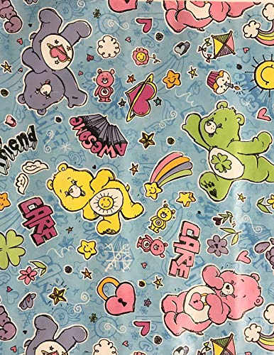2006 Care Bears Wrapping Paper Gift Wrap (2.5 Feet Wide - 20 Square Feet)