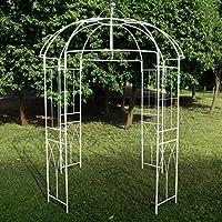 Pergola de metal con forma de jaula de pájaros de 4 lados estilo francés, de Outour, para jardín, patio, boda, vid trepadora, rosas, flores, color blanco: Amazon.es ...