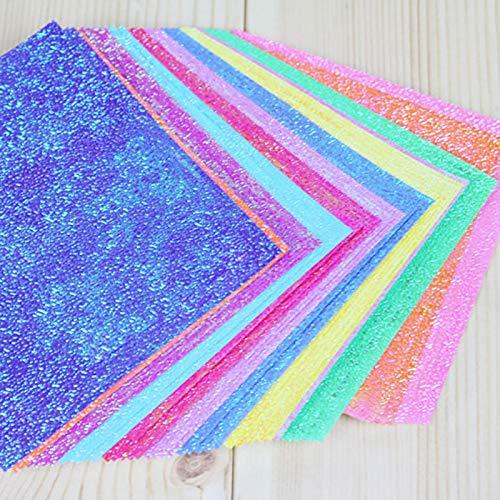 Ruikey 150 Feuilles Papier Origami Carr/é Gliter Pliable Double Visage Fait Main Origami Color/é pour Enfant 15 15CM