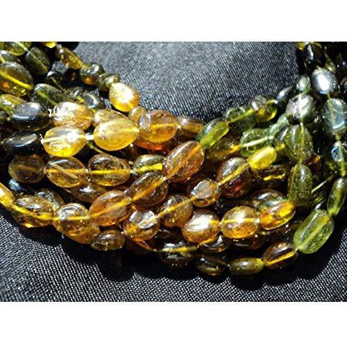 KALISA GEMS Beads Gemstone 1 Strand Natural Petro Tourmaline Beads, Tourmaline Beads, Nugget Beads, 7x4mm Beads, Oval Beads, 14 Inch