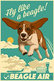 product image for Beagle - Retro Aviation Ad (36x54 Giclee Gallery Print, Wall Decor Travel Poster)