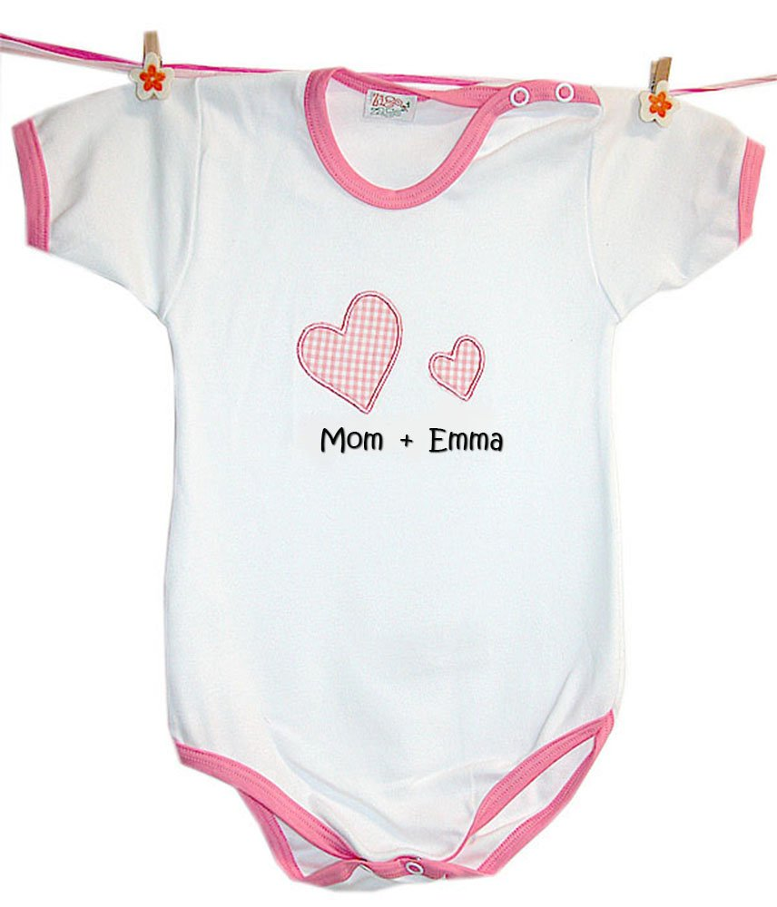 Zigozago - Baby body personalised romper 'Mom + baby's name'