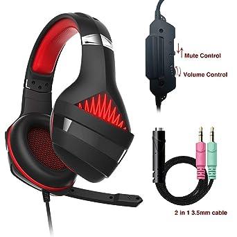 Beexcellent Casque Gm5 Jeu Gaming Ps4 Micro Premium Anti Bruit Led