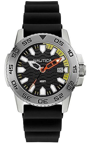 Nautica Reloj Analógico para Hombre de Cuarzo con Correa en Silicona 0656086076271: Amazon.es: Relojes