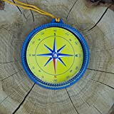 Giant Magnetic Compass 4'' with Lanyard