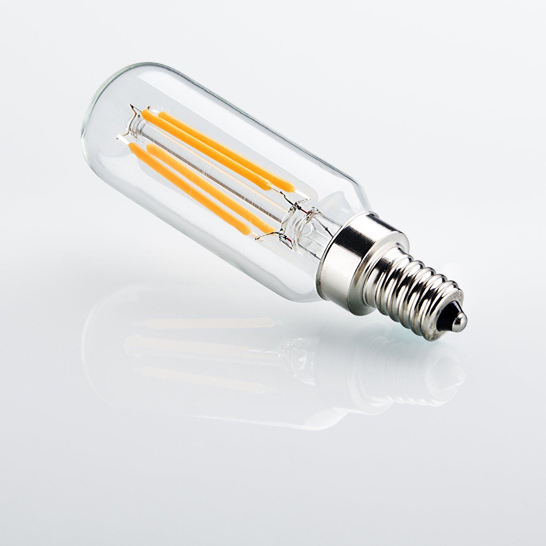 4 Pack 4w Led Filament Candelabra Bulb 40w Incandescent: Rayhoo E12 Base LED Candelabra Light Bulbs, 4W 110V