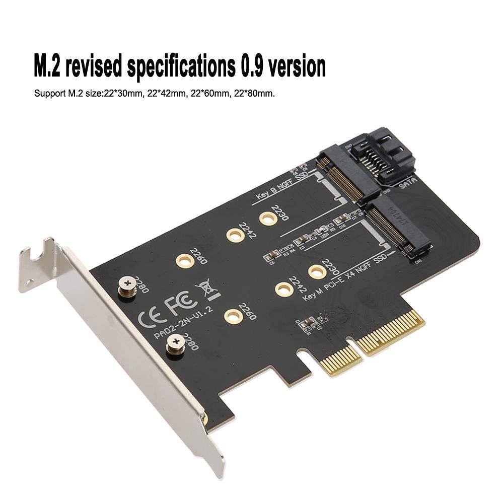 ASHATA NGFF Card, PCI-E X4 a NGFF SSD Disco Duro Elevador, Alta ...