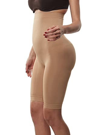 656f5f6ac38 Beilini Women s High Waist Thigh Shaper Tummy Firm Control Shapewear Nude S