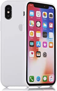 Xingqijia iPhone Xs Max Case Premium Liquid Silicone Gel Rubber Bumper Case, Silky and Soft Touch iPhone 10Xs Max Silicone Shockproof Cover Case - White