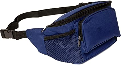 KNOX G DESIGNS Mens Basic Travel Fanny Pack Waist Bag in Solids