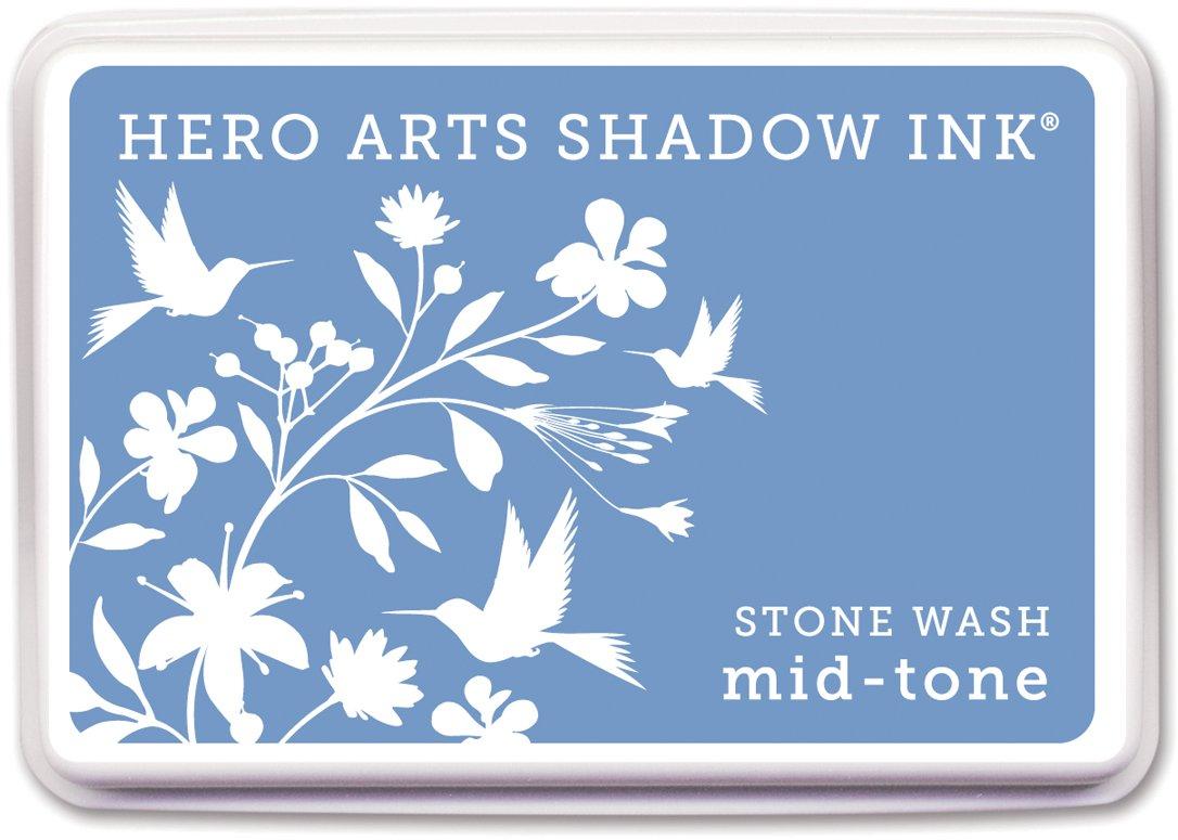 Hero Artsゴムスタンプaf211シャドウインクmid-tone、ストーン、Wash B0083VUUS0
