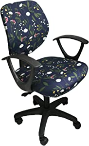 MOCAA Computer Office Chair Covers Universal Stretchable Polyester Washable Rotating Chair Slipcovers,ONLY Chair Covers (Color 8)