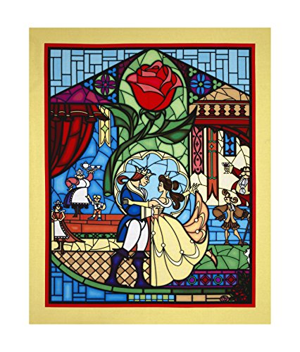 Springs Creative Products Disney Beauty & The Beast 36in Panel Yellow Fabric