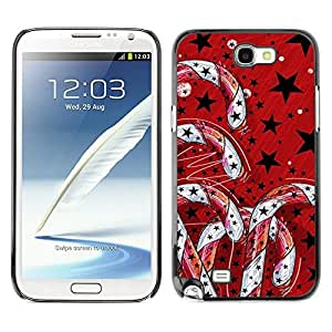 YOYO Slim PC / Aluminium Case Cover Armor Shell Portection //Christmas Holiday Red Candy Decorations 1094 //Samsung Note 2