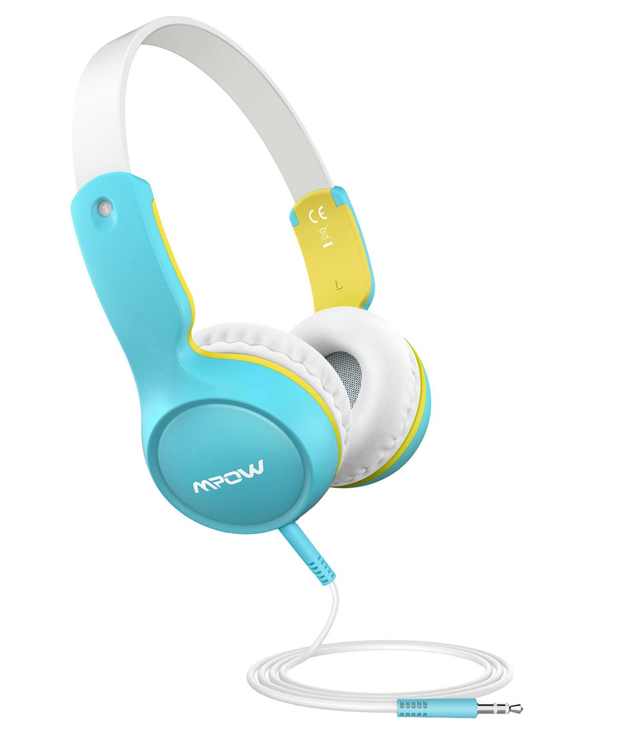 Mpow Kids Headphones, Wired On-Ear Headphone, 3-level Volume Control & 85dB Volume Limited for Protection, Comfy Design, 3.5mm Audio Jack, Safe Food Grade Material, Children Headphones for Kids