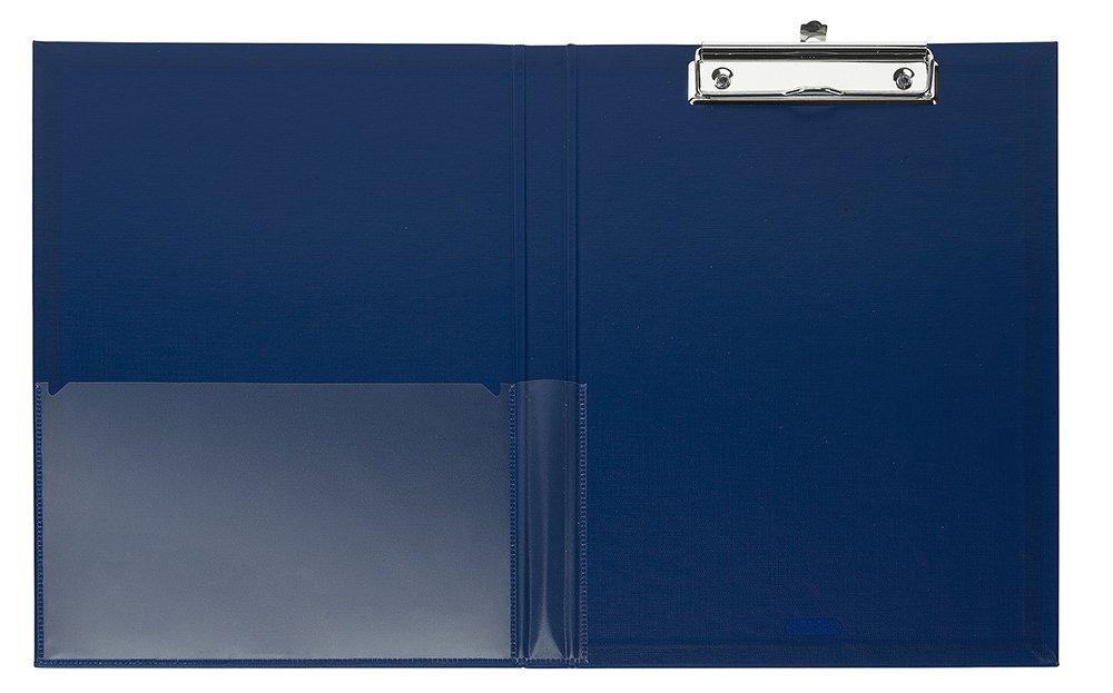 2 Ante con Molla in Metallo Cromato Ferma Fogli Favorit 100460190 Porta Blocco Nero formato interno 22x30 cm