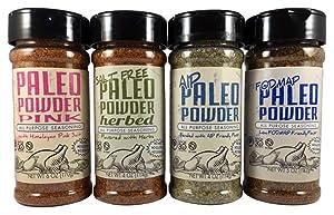 Paleo Powder All Purpose Seasoning Variety Pack. The Original Paleo Food Seasoning Great for all Paleo Diets. Certified Keto Food, Paleo Whole 30, Paleo AIP Food, and Paleo Gluten Free Seasoning.