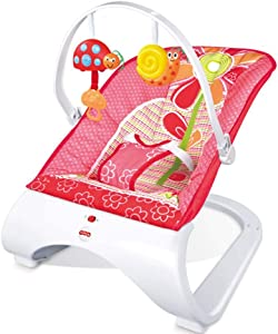 ZWQ kids Comfort Curve Bouncer,Newborn-to-Toddler Rocker,Baby Swing Chair Seat with Calming Vibrations, Songs and Sounds, Suitable from Birth,Red