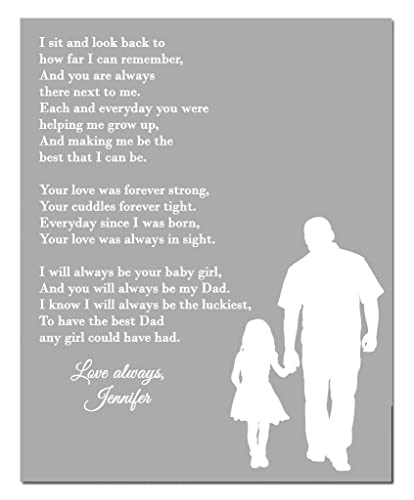 Amazoncom Dad Daughter Poem Print Personalized Dad Gift