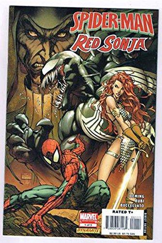 Spider-Man/Red Sonja #1 Comic Book - Dynamite Entertainment 2007 - 9.8 Grade - MICHAEL TURNER COVER - Venom