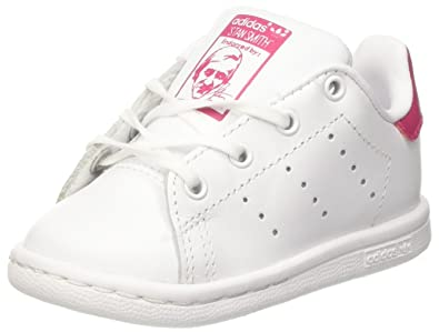 adidas Stan Smith I, Chaussons Mixte bébé, Blanc (Ftwbla/Rosfue 000)