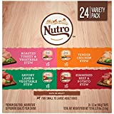 Cheap Nutro Wet Dog Food Cuts in Gravy Variety Pack, Tender Chicken Stew, Roasted Turkey & Vegetable Stew, Simmered Beef & Potato Stew, and Savory Lamb & Vegetable Stew, (24) 3.5 oz. Trays